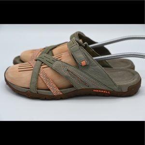 Merrell Putty Grip Slides Performance Sandals Sz.8